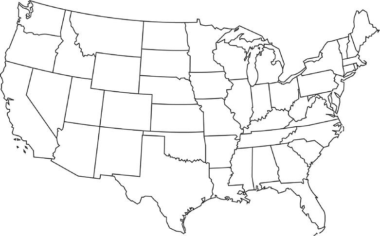 Blank Us Map Jpg Map Usa Map Images - Printable blank us map