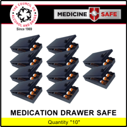 Medicine Safe For Drawers Carton of 10